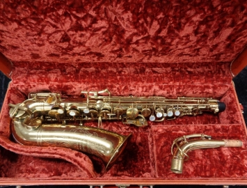 Beautiful Buescher Aristocrat Alto Sax - Black Roo Pad Job - Serial # 337197