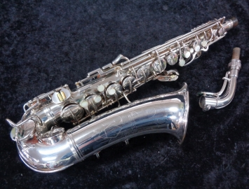 Vintage C.G. Conn Silver Plate 6M VIII Naked Lady  Alto Sax, Serial #298226