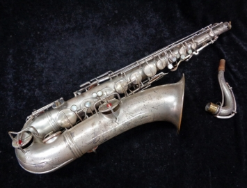 RARE 1921 Vintage Conn New Wonder Tenor Sax in Chrome White Finish # 65899