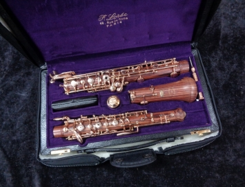 WOW! Beautiful F. Loree Royal Violet Wood Oboe with Gold Plated Key Work #SY 66