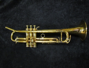 Paris Model F Besson Brevete Bb Trumpet in Gold Plate - Serial # 101843