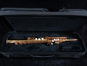 Pristine Eastman ESS642-GL Soprano Saxophone in Gold Lacquer, Serial # 1122133