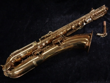 Vintage C.G. Conn Late Transitional Naked Lady Bari Sax–Fully Restored, Serial #259006