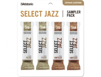 D'Addario Select Jazz Sampler Packs for Soprano Sax
