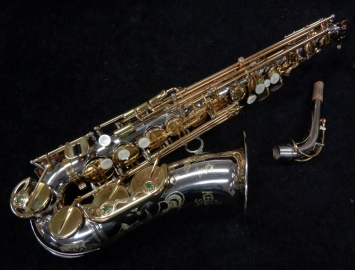 Lovely and Rare! Keilwerth Nickel Silver Plate SX90R Alto Saxophone, 100723
