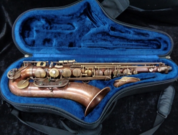 Dark Player! P. Mauriat 86 UL Unlacquered Tenor Sax, Serial #PM0604814