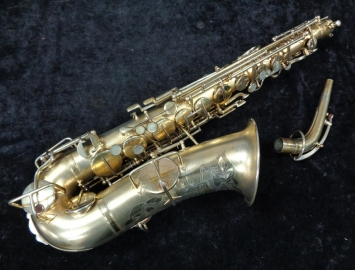 Early 1920's Buescher True Tone Alto Sax in Original Gold Plate, Serial # 109115