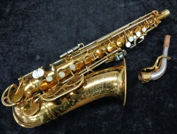 Vintage King Cleveland Super 20 Alto Sax Original Lacquer Finish, Serial #352123