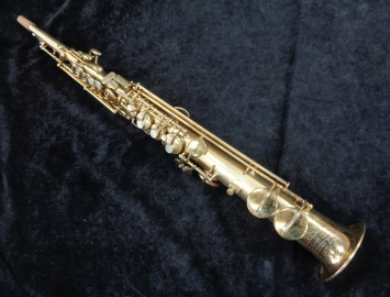 Vintage Gold Plated Conn New Wonder II Chu Berry Soprano Saxophone, Serial #160582
