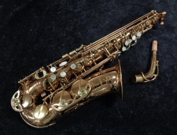 Selmer USA Omega Alto Saxophone in Gold Lacquer, Serial #82644
