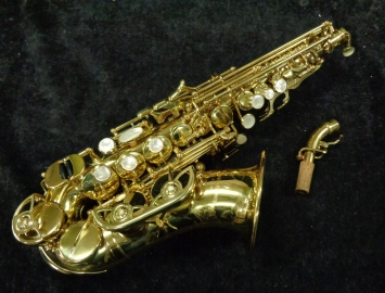 Pretty! Yanagisawa 991 Curved Soprano Saxophone in Gold Lacquer, Serial #00285352