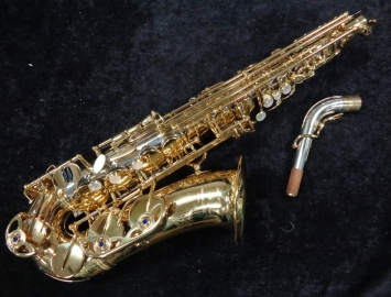 Beautiful Sterling Silver and Gold Lacquer Yanagisawa 9930 Alto Sax, Serial #00308465