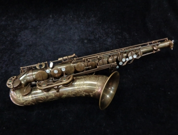 Barely Played! Ishimori Wood Stone Tenor Sax New Vintage Model, Serial #H0662