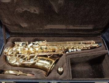 Near Mint Yanagisawa 990u Gold Lacquer Alto Sax, Serial #00197921