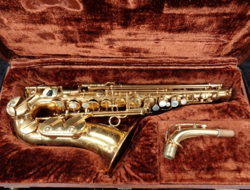 Beautiful Vintage Gold Plated Couf Superba 1 - Julius Keilwerth Alto Sax, Serial #67654