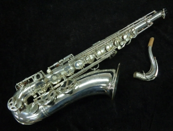 WOW! Original Selmer Paris Silver Plate Super Balanced Action Tenor Sax, Serial #34907