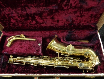 Vintage Buescher Original Gold Plated True Tone Alto Saxophone, Serial #179069