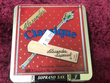 Box of 10 Reeds for Price of 5 - Alexander Classique Soprano Sax #3