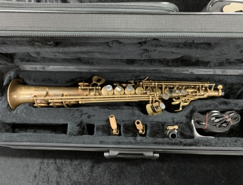 P. Mauriat System 76 2nd Edition Unlacquered Soprano Saxophone – 2 Necks, Serial #PM0662717