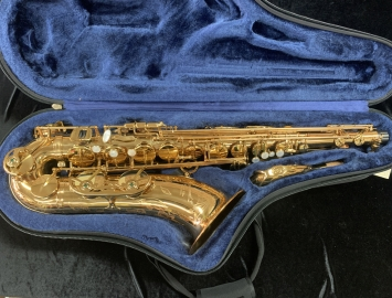 P. Mauriat 66RGL Gold Lacquer Tenor Saxophone W/ Rolled Tone Holes, Serial # PM0900817