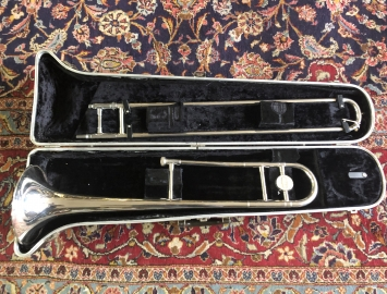 Very Nice! Bundy Silver Plate Student Trombone, Ready to Play with Case