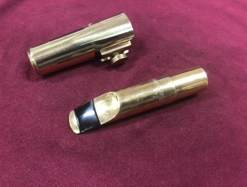 "Older Saxgourmet Metal Mouthpiece for Tenor Saxophone .075"" 4 Star"