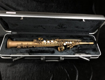 Mint Condition! Theo Wanne Mantra Soprano Saxophone in Raw Brass Finish, Serial #1104