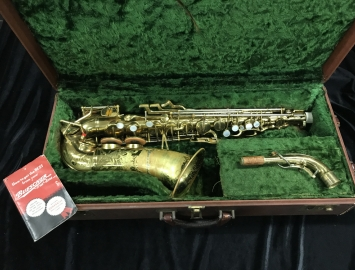 Vintage Buescher 400 Top Hat and Cane Alto Saxophone, Serial # 317601