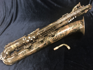 Vintage Selmer Paris Original Lacquer Super Balanced Action Bari Sax Low A, Serial #51832