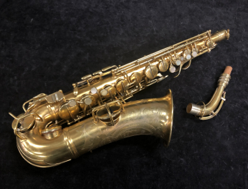 Vintage Original Gold Plated Conn 'Chu Berry' Alto Saxophone, Serial 158528