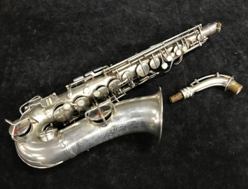 Vintage C.G. Conn New Wonder II 'Chu Berry' Alto Saxophone in Silver Plate, Serial #204180