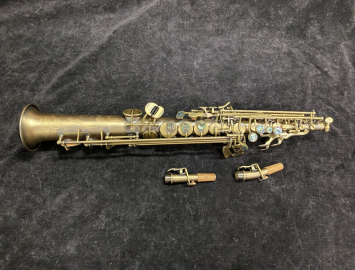Matte Finish P Mauriat System 76 Soprano Sax with 2 Necks - MINT - Serial # PM1260119