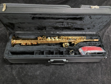 Gold Lacquer P Mauriat System 76 Soprano Sax with Fixed Neck - Serial # PM1060219