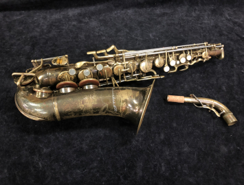 Free Blowing Player! Vintage Buescher 400 Top Hat and Cane Alto Sax, Serial #301973