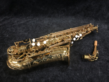 Pristine! P. Mauriat Master 97 Gold Lacquer Alto Saxophone, Serial PM1022218 – Demo Pricing