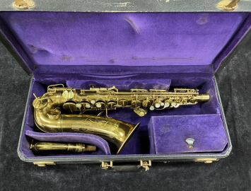 Original Lacquer CG Conn 6M 'Naked Lady' Alto Sax w/ Rolled Tone Holes # 319836