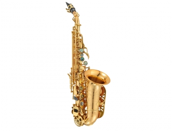 NEW P Mauriat 2400GL Gold Lacquer Curved Soprano Sax