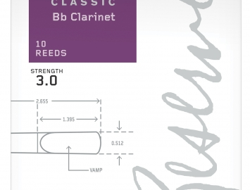D'Addario Reserve Classic Reeds for Bb Clarinet