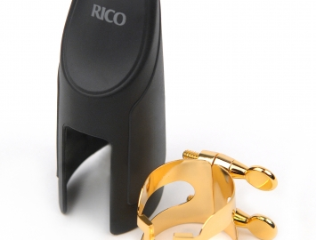 Rico H Ligature & Cap Set for Eb Alto Sax - Gold or Silver Plate