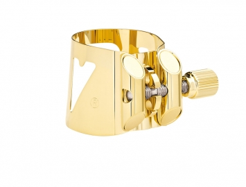 Vandoren Optimum Ligature for Eb Bari Sax in Gold Plate