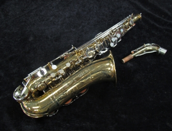 Vintage Original Lacquer G. Leblanc Semi Rational Alto Sax, Serial #499