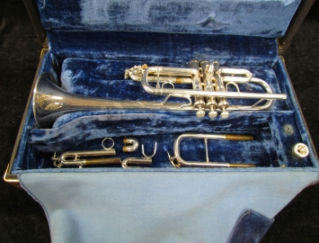 Bach Stradivarius 239G C Trumpet in Silver Plate, Serial #138576