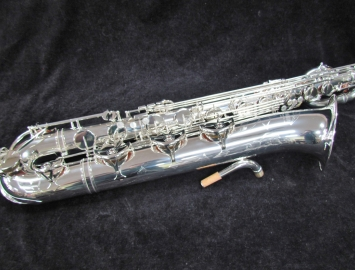 New Yamaha YBS-62 Professional Baritone Saxophone in Silver