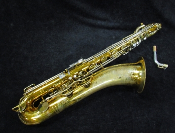 Vintage Original Lacquer King Super 20 Baritone Sax, Serial #430018