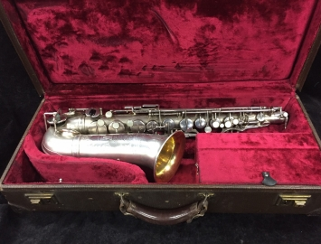 Vintage Original Silver Plate Selmer Paris New Large Bore – Super Alto, Serial #13689