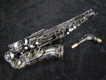 NEW Chateau 800 Series Pro Alto Sax in Black Nickel Plating