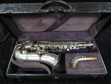 Early Vintage CG Conn New York 'Wonder Improved' Alto Sax w/ Double 8ve Keys - Serial # 4580