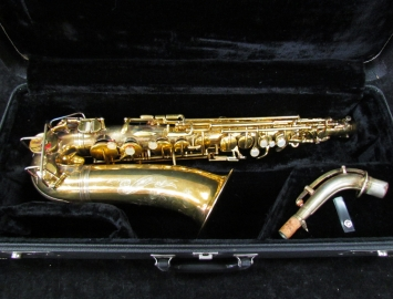 Exquisite! Original Gold Plated Holton Rudy Wiedoeft Model, Serial #33772
