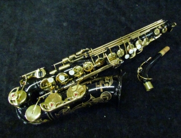 Beautiful Yamaha Custom Z YAS82Z Alto Sax in Black Lacquer, Serial D49324