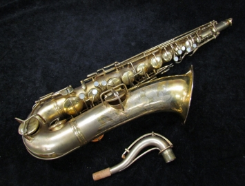 Vintage C.G. Conn New Wonder Gold Plate Tenor Sax, Serial #106790